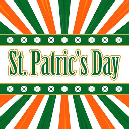 irish background: Irish background for St. Patricks Day. Lucky Clover Illustration