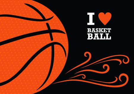 canestro basket: Vector sfondo a tema basket. L'immagine stilizzata di una palla da basket Vettoriali