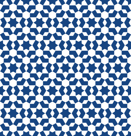 wall tile: Moroccan style mosaic ornament. Seamless mosaic tile pattern Illustration