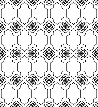 Moroccan style mosaic ornament. Seamless mosaic tile pattern Иллюстрация