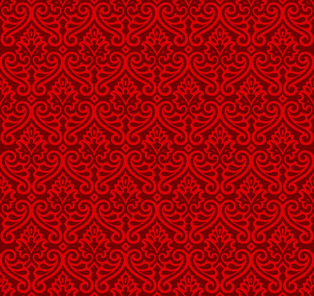 renaissance: Red color vector ornament in the Renaissance style. Seamless pattern