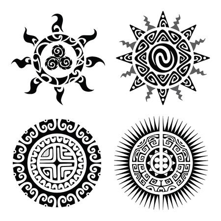 maories: Dise�o tradicional del tatuaje maor� Taniwha. Ilustraci�n vectorial editable.