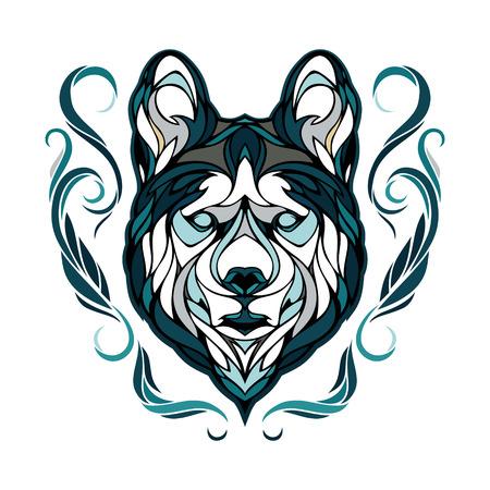 siberian husky: Vector image of a dog siberian husky