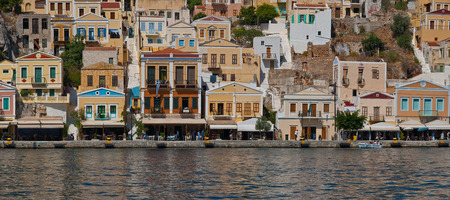 dodecanese: View of Symi Island, Greece, Dodecanese. Mediterranean sea