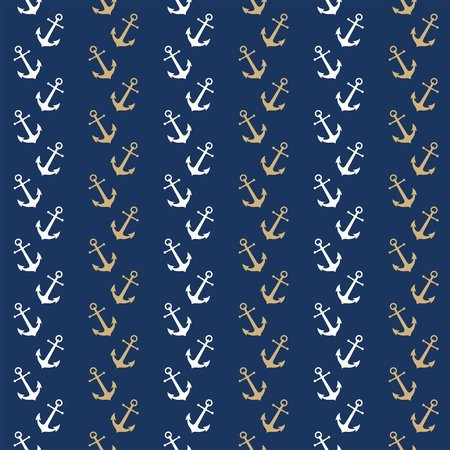 nautic: Seamless nautical pattern with anchors. Design element for wallpapers