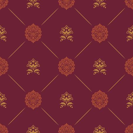 Wallpaper in royal baroque style. Background seamless royal baroque endless pattern,  renaissance damask vector pattern