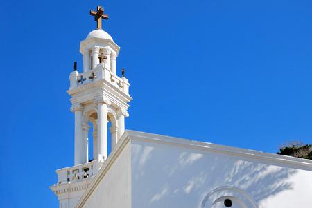 church bell: Greek church bell tower. Island of Rhodes. Greece