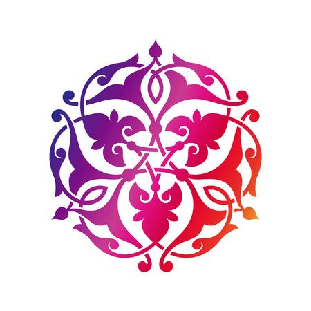 Arabic oriental ornament, floral pattern motif, arabesque, arabic ornament