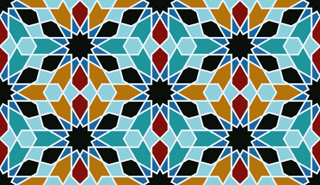welt: Oriental mosaic decoration. Morocco wall tiles. Vector illustration Illustration