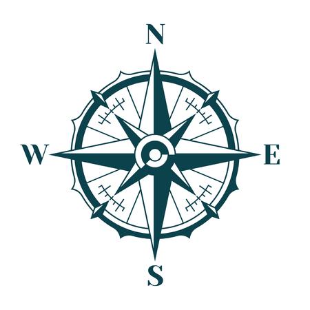 Vintage nautical compass rose.  イラスト・ベクター素材