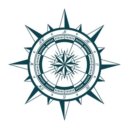Vintage Nautik Kompass Rose Standard-Bild - 79222618