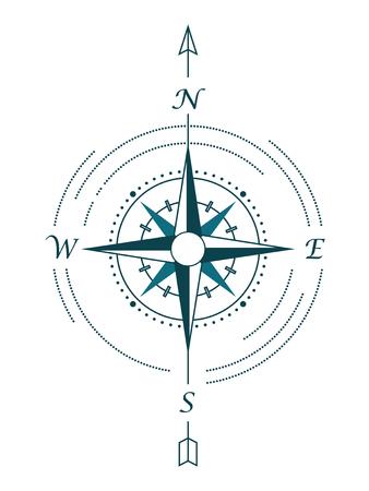 compass rose: Vector touristic compass rose