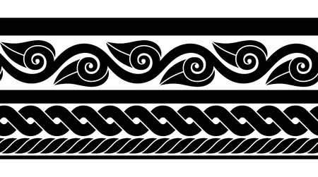 Set of classic ancient Roman seamless border
