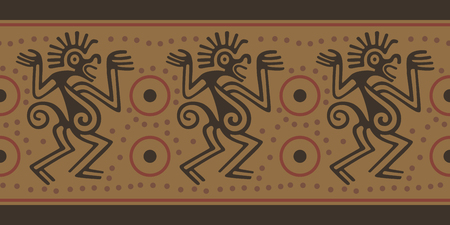Seamless border in Indian style. Design of the Indians of South America