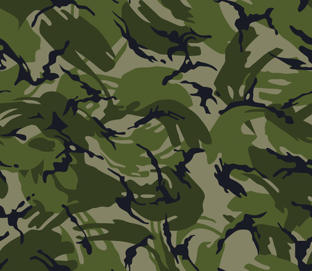 Camouflage seamless pattern. Military print in green colour. Army background.
