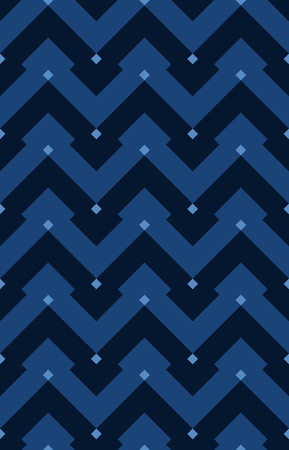 Chevron seamless vector pattern, geometrical Moorish pattern. Vintage zigzag ornament abstract pattern for fabric or packaging.