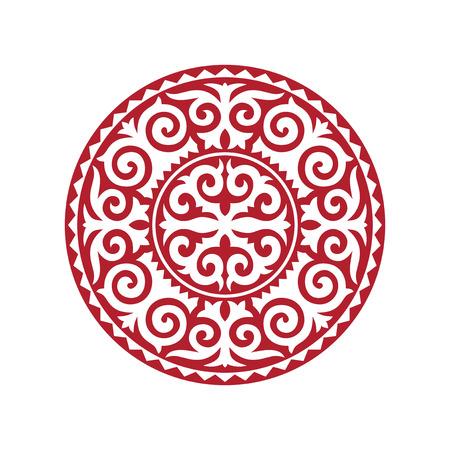 Traditional ornament of Asian nomads: Mongols, Kazakhs, Kirghiz, Bashkirs, Tatars.