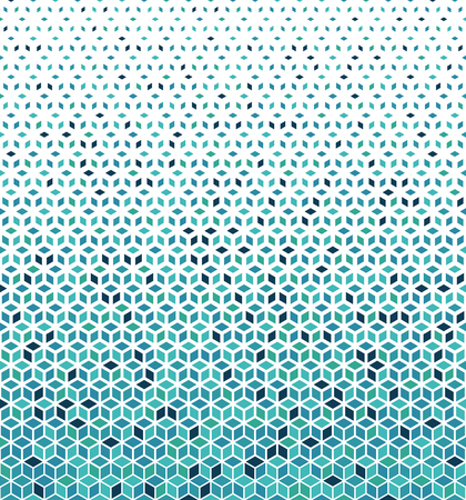 Hexagonal Halftone Pattern. Abstract vector background with rombus. Crystal pattern