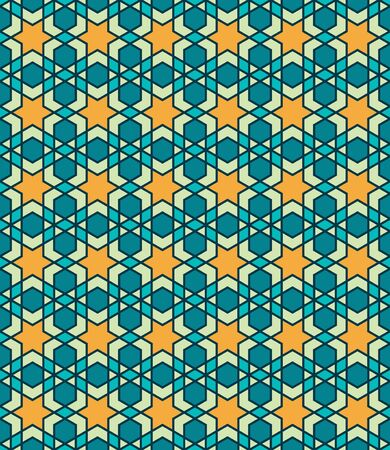 Morocco Seamless Pattern. Traditional Arabic Islamic Background. Mosque decoration element. Stockfoto