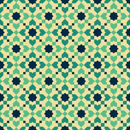 Moroccan style mosaic ornament. Seamless mosaic tile pattern Фото со стока