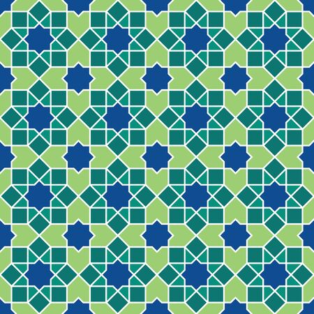 Islamic pattern. Seamless vector geometric lattice background in arabic style. Ethnic line islamic pattern. Ilustração