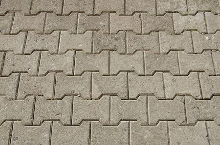 Concrete or cobble gray pavement slabs or stones for floor