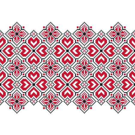 Ornament for cross stitch. National ornament of Slavs and Baltic peoples.