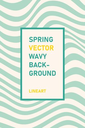 Abstract wavy line art background. Vector wavy striped background