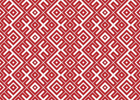 National knitting striped slavic ornament. Vector illustration of ethnic seamless ornamental geometric pattern