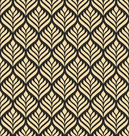 Floral geometric seamless pattern. Floral organic background. Geometric stylish background