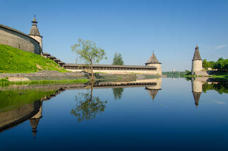 Pskov Kremlin - fortification architecture of Russia. The ancient Russian city of Pskov
