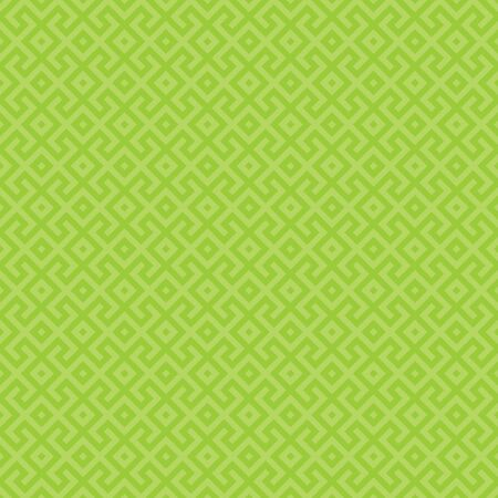 Green geometric seamless pattern. Abstract vector geometric background