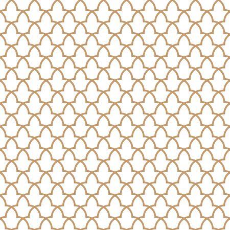 Pattern from the Alhambra palace. Traditional islamic geometric pattern. Arabic mosaic Ilustração