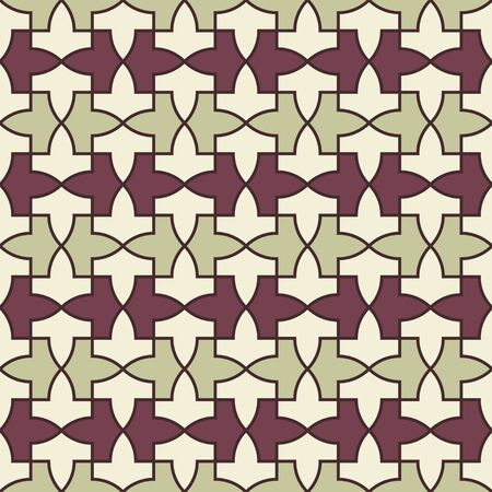 Pattern from the Alhambra palace. Traditional islamic geometric pattern. Arabic mosaic Vettoriali