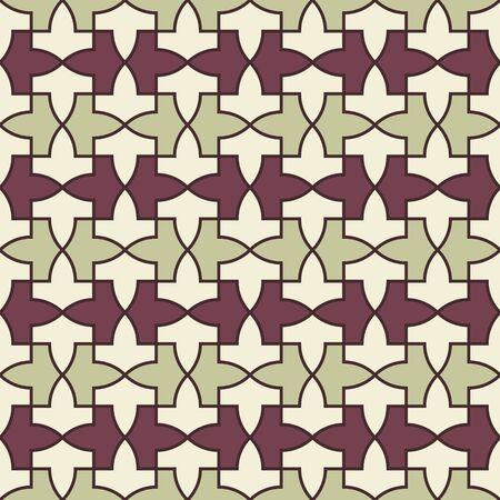 Pattern from the Alhambra palace. Traditional islamic geometric pattern. Arabic mosaic 矢量图像