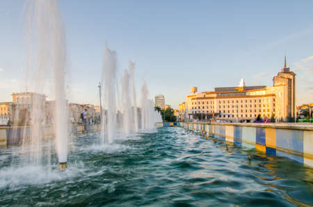 August, 2020, Kazan, Tatarstan: Evening view of the Kaban lake embankment. Kazan, Tatarstan