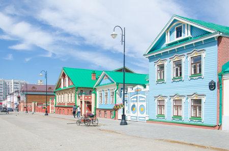 Kazan, Republic of Tatarstan, Russia, August 2020 - Historical quarter: Old Tatar settlement Kazan