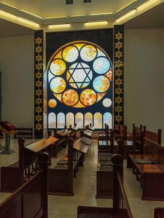 Kaliningrad, Russia, March 2021 - Interior of the New Synagogue in Kaliningrad