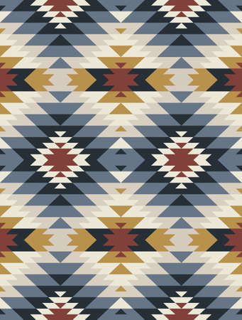 Native American Indian Ornament. Tribal seamless colorful geometric pattern. Ethnic vector texture