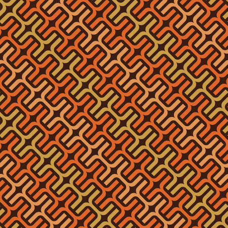 Vector pattern of intertwined colored lines. Chain pattern