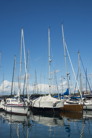 Boats in the port of Pula, Istria, Croatia photo