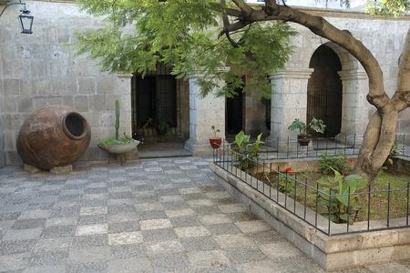 medioeval: Courtyard at Arequipa, Peru