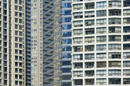parallelogram: Skyscrapper facade close view