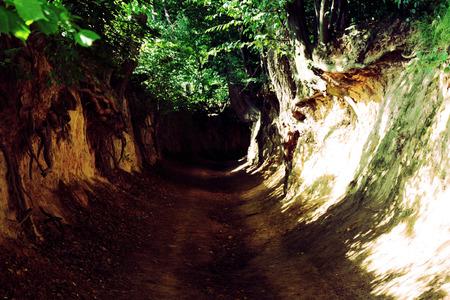 kazimierz dolny: Dark gorge Stock Photo