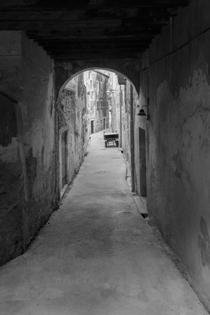 alley: dark alley Stock Photo