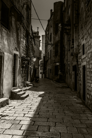 dark: dark alley Stock Photo