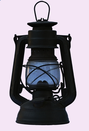oil lamp: isolated oil lamp Stock Photo