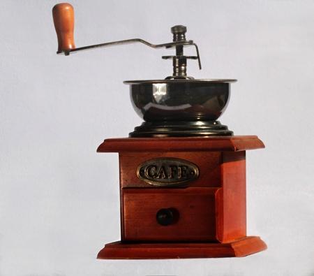 molinillo: antiguo molinillo de cocina Foto de archivo