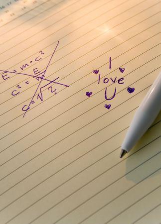 i love u: Crossed �quation et i Love U � c�t� de texte