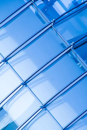 Detail of business building, diagonal, with blue tint Stock Photo - 2791693